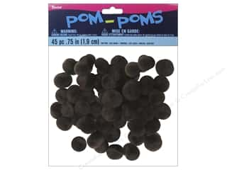 "Darice Pom Poms .75"" Light Brown 45pc"