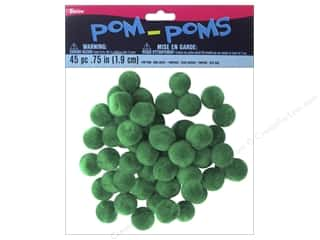"Darice Pom Poms .75"" Christmas Green 45pc"