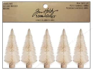 Miniatures / Scene Miniatures Tan: Tim Holtz Idea-ology Mini Trees Woodlands