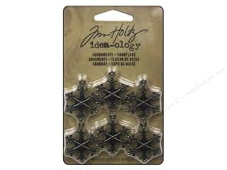 Tim Holtz Idea-ology Adornments Snowflakes