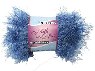 Multicraft Yarn Glit Eyelash 1.7oz Raz Daz Blue
