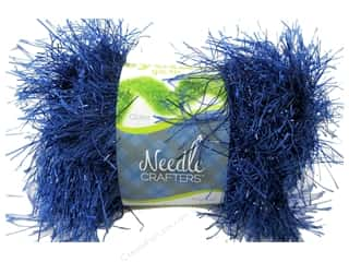 Multicraft Yarn Glit Eyelash 1.7oz Romance Blue