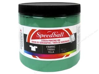 Speedball: Speedball Fabric Screen Printing Ink 8oz Green