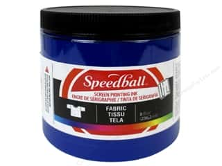 Speedball: Speedball Fabric Screen Printing Ink 8oz Process Cyan