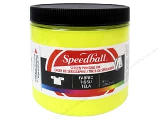 Speedball: Speedball Fabric Screen Printing Ink 8oz Process Yellow