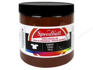Speedball: Speedball Fabric Screen Printing Ink 8oz Brown