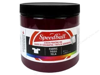 Paints Burgundy: Speedball Fabric Screen Printing Ink 8oz Burgundy