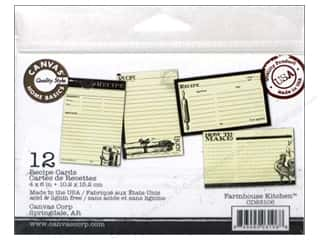 Canvas Corp Recipe Cards 4 x 6 in. Farmhouse Kitchen 12 pc.