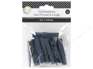 Canvas Corp Small Clothespins 12 pc. Navy Blue