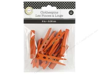 Canvas Corp Small Clothespins 12 pc. Orange