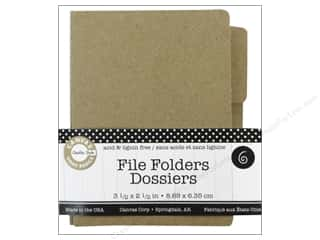Canvas Corp File Folders 3 1/2 x 2 1/2 in. Naked Kraft