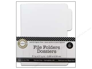 Canvas Home Basics $1 - $3: Canvas Corp File Folders 3 1/2 x 2 1/2 in. Naked White 6 pc.