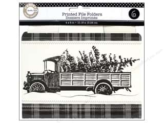 Canvas Corp File Folders 4 x 6 in. Farmhouse Christmas