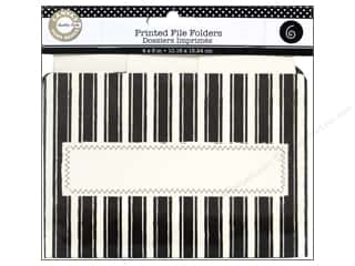 Brazabra Corp $3 - $4: Canvas Corp Printed File Folders 4 x 6 in. Farmhouse Kitchen Black and Ivory