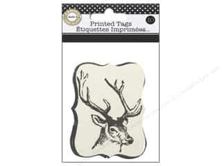Canvas Home Basics: Canvas Corp Printed Tags 10 pc. Farmhouse Christmas Reindeer