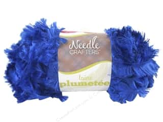 Multi's Embellishment  Yarn Multicraft Foam: Multicraft Yarn Feather Polyester 1.7oz Brilliant Blue
