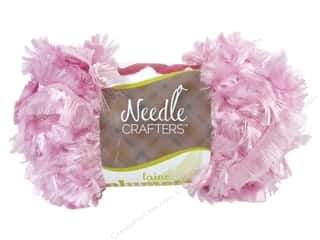 Multi's Embellishment  Yarn Multicraft Foam: Multicraft Yarn Feather Polyester 1.7oz Pink Blush