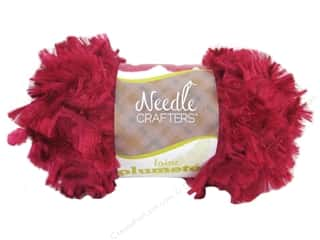 Multi's Embellishment  Yarn Multicraft Foam: Multicraft Yarn Feather Polyester 1.7oz Really Red