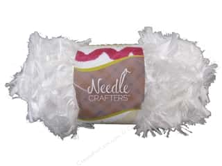 Multi's Embellishment  Yarn Multicraft Foam: Multicraft Yarn Feather Polyester 1.7oz White