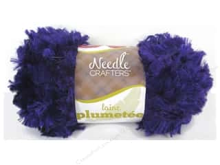 Yarn & Needlework: Multicraft Yarn Feather Polyester 1.7oz Deep Purple