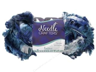 Multi's Embellishment  Yarn Multicraft Foam: Multicraft Yarn Feather MultiDyed 1.7oz Blue Velvet Blend
