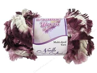 Yarn Burgundy: Multicraft Yarn Feather MultiDyed 1.7oz Victorian Rose Medley