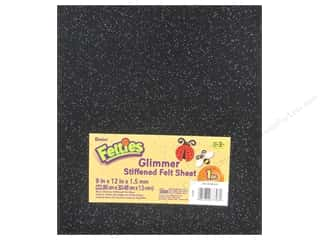 "Favorite Things $12 - $15: Darice Felties Sheet 9""x 12"" 1.5mm Glimmer Black (5 pieces)"