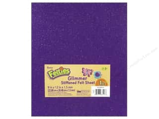 "Favorite Things $12 - $15: Darice Felties Sheet 9""x 12"" 1.5mm Glimmer Purple (5 pieces)"
