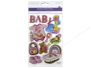 Multicraft Sticker 3D Chipboard Baby Girl