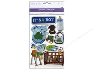 3D Stickers: Multicraft Sticker 3D Chipboard Baby Boy