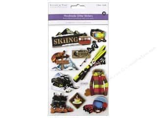 Multicraft Sticker 3D Chipboard Ski Trip