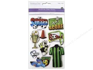 Multicraft Sticker 3D Chipboard Soccer Fun