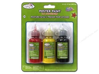 Multicraft Poster Paint 60ml Red/Yellow/Black 3pc