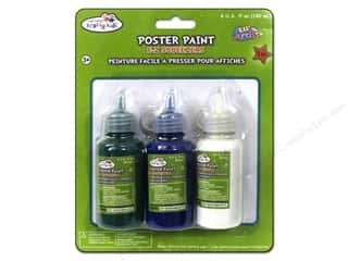 Multicraft Poster Paint 60ml Green/Blue/White 3pc