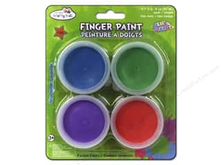 Drawing $0 - $4: Multicraft Krafty Kids Finger Paint 80gm Fashion Colors 4pc