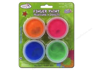 Drawing $0 - $4: Multicraft Krafty Kids Finger Paint 80gm Neon Colors 4pc