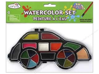 Multi's Embellishment  Yarn Multicraft Krafty Kids: Multicraft Krafty Kids Lil Artist Watercolor Set With Brush Car