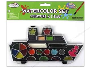 Chalk Artist Papers: Multicraft Krafty Kids Lil Artist Watercolor Set With Brush Boat