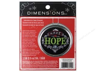 Ornaments Sewing & Quilting: Dimensions Embroidery Kit Ornament Chalkboard Have Hope