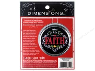 Ornaments Hearts: Dimensions Embroidery Kit Ornament Chalkboard Have Faith