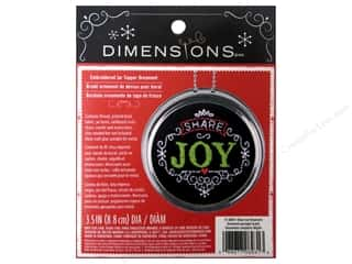 Ornaments Hearts: Dimensions Embroidery Kit Ornament Chalkboard Share Joy