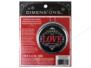 Love & Romance Christmas: Dimensions Embroidery Kit Ornament Chalkboard Share Love