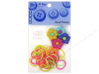 Jesse James Buttons Beading & Jewelry Making Supplies: Jesse James Kit Rubber Bands Floral Frenzy