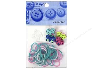 Jesse James Buttons Beading & Jewelry Making Supplies: Jesse James Kit Rubber Bands Flutter Fun