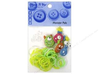Jesse James Buttons Beading & Jewelry Making Supplies: Jesse James Kit Rubber Bands Monster Pals
