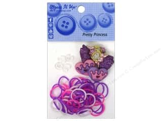 Jesse James Buttons Beading & Jewelry Making Supplies: Jesse James Kit Rubber Bands Pretty Princess
