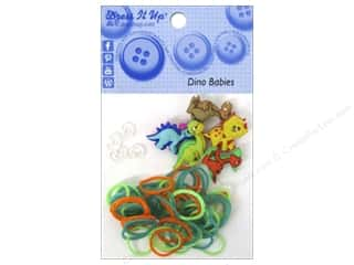 Jesse James Buttons Beading & Jewelry Making Supplies: Jesse James Kit Rubber Bands Dinobabies