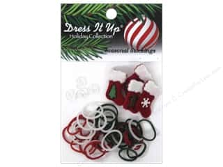 Jesse James Buttons Beading & Jewelry Making Supplies: Jesse James Kit Rubber Bands Seasonal Stockings