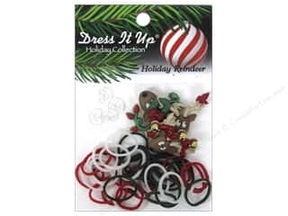 Jesse James Buttons Basic Components: Jesse James Kit Rubber Bands Holiday Reindeer