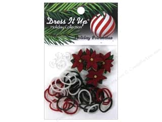 Jesse James Buttons Basic Components: Jesse James Kit Rubber Bands Holiday Poinsettias